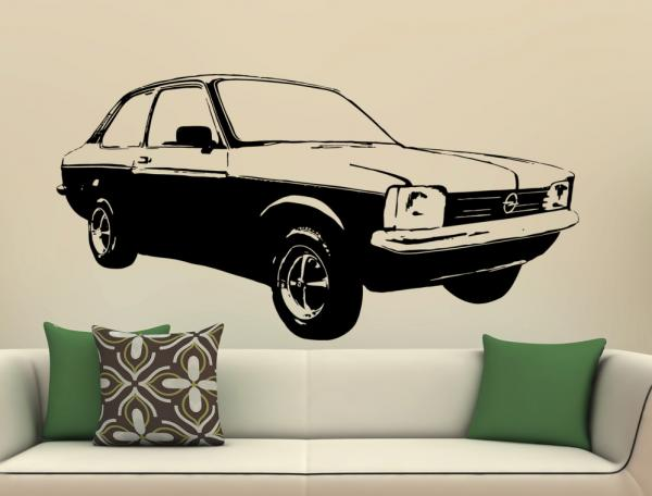 wandtattoo opel kadett c 1979 wandbild aufkleber. Black Bedroom Furniture Sets. Home Design Ideas