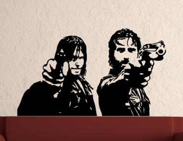 Wandtattoo The Walking Dead Daryl Dixon und Rick Grimes
