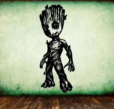 Wandtattoo freundlicher Baby Groot aus Guardians of the Galaxy