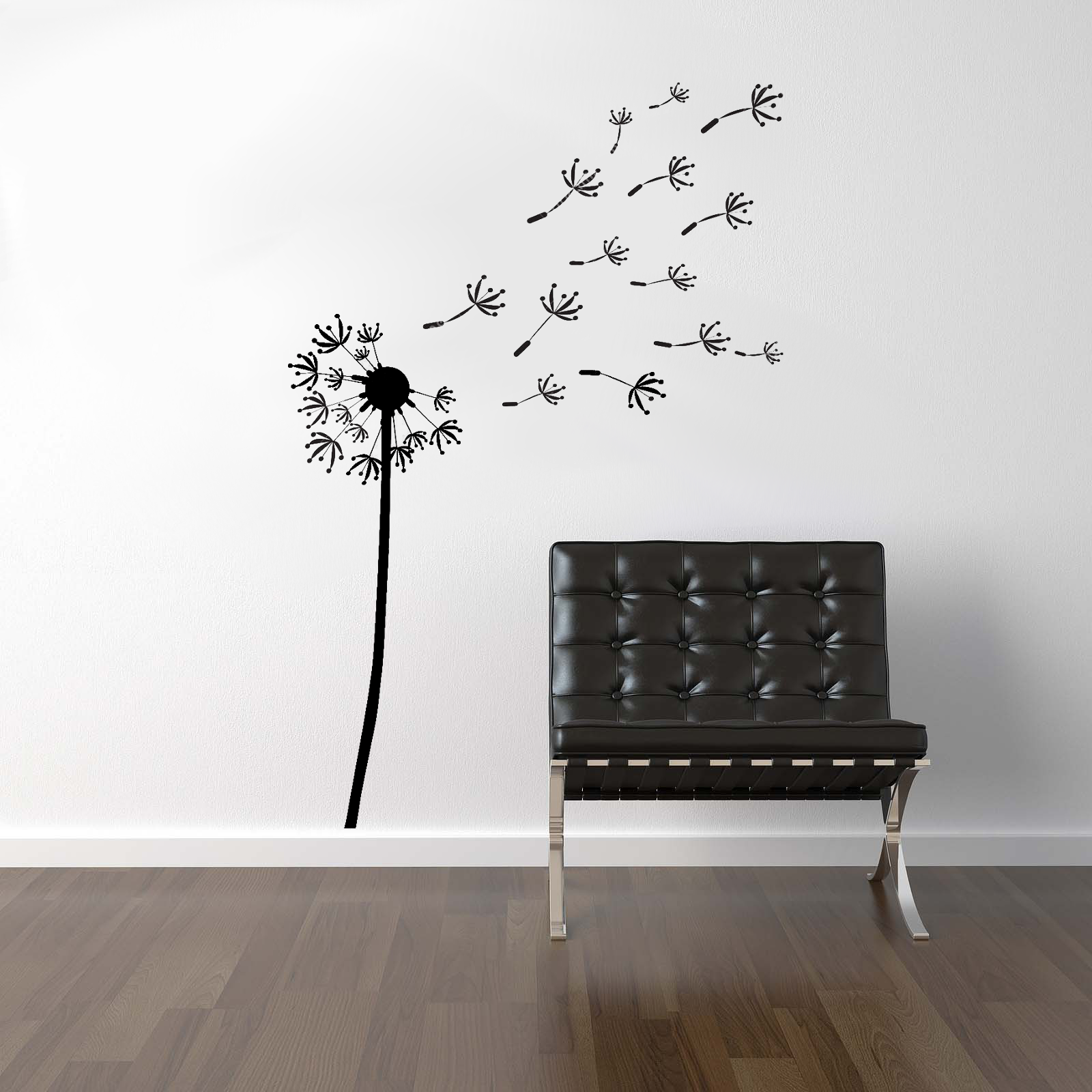 streetwall wandtattoo pusteblume wandbild aufkleber. Black Bedroom Furniture Sets. Home Design Ideas