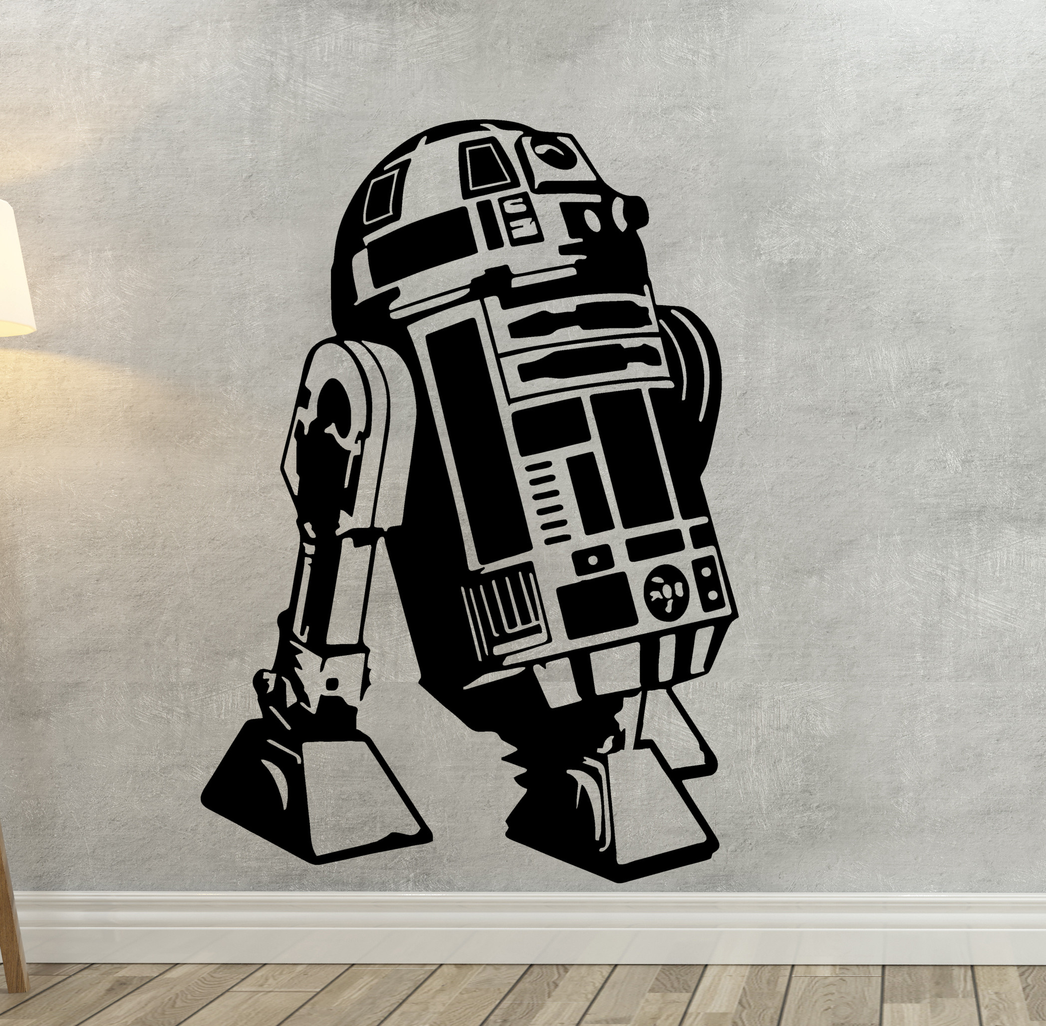 streetwall wandtattoo star wars r2 d2 wandbild aufkleber. Black Bedroom Furniture Sets. Home Design Ideas