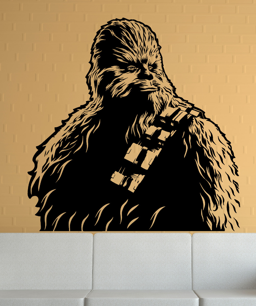 streetwall wandtattoo star wars chewbacca 2 wandbild wandbild aufkleber. Black Bedroom Furniture Sets. Home Design Ideas