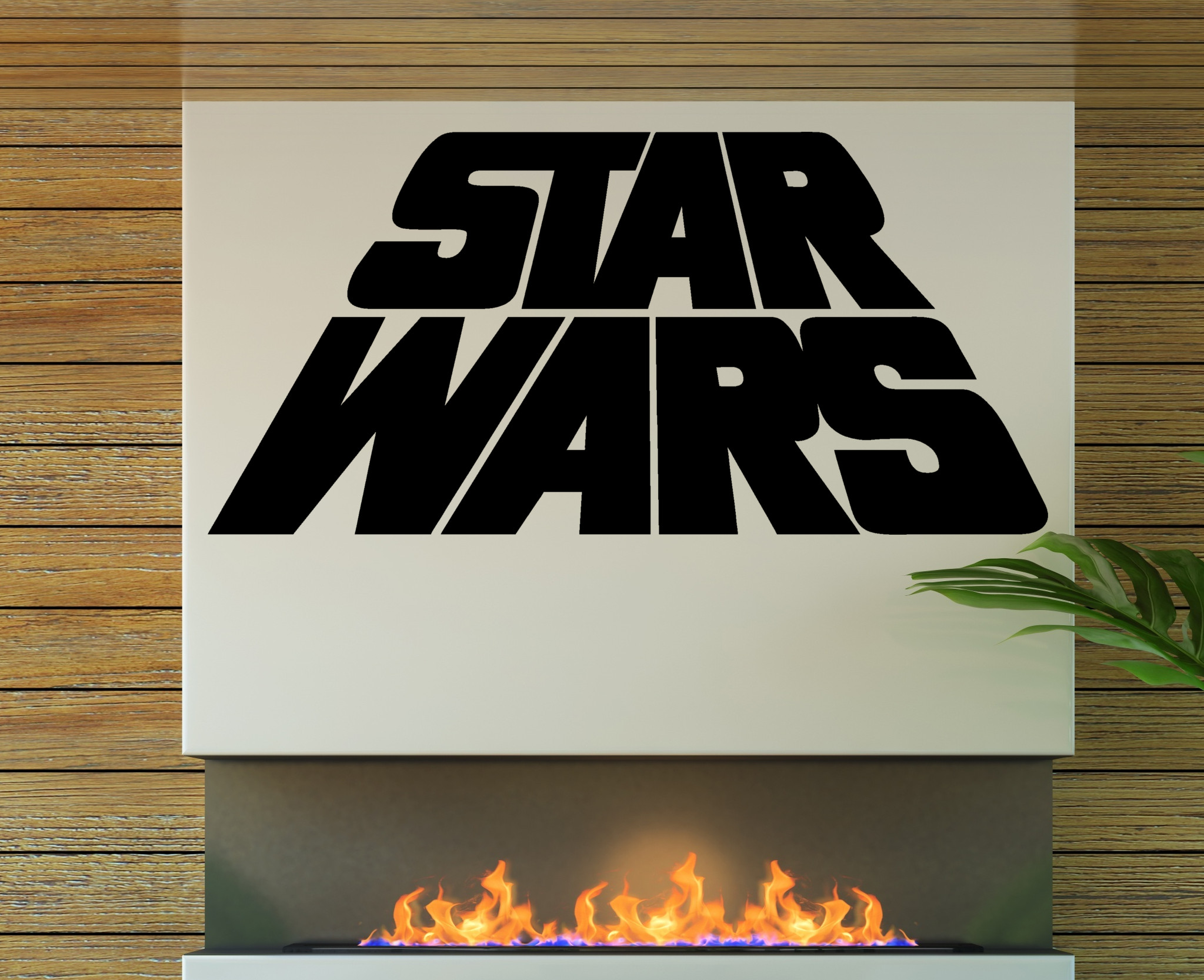 streetwall wandtattoo star wars logo wandbild aufkleber. Black Bedroom Furniture Sets. Home Design Ideas
