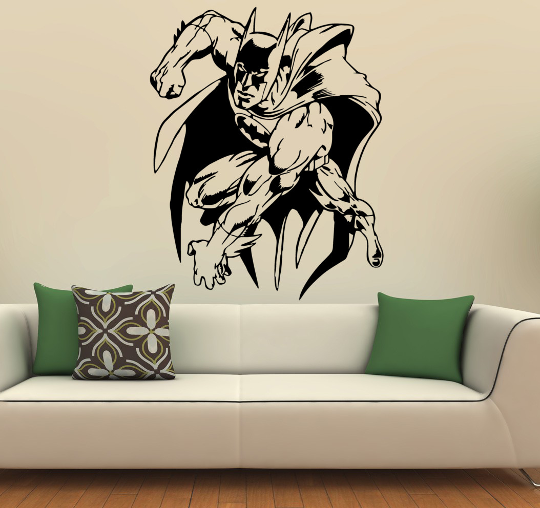 streetwall wandtattoo batman wandbild aufkleber. Black Bedroom Furniture Sets. Home Design Ideas