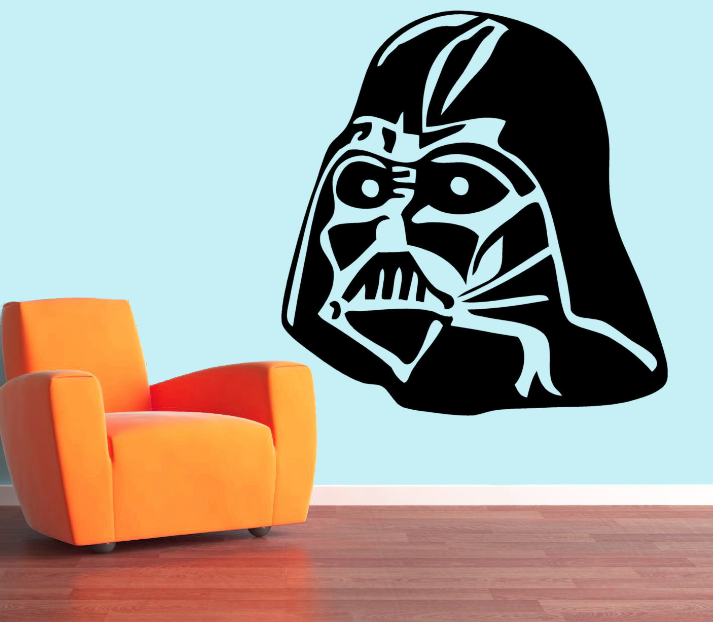 streetwall wandtattoo darth vader wandbild aufkleber. Black Bedroom Furniture Sets. Home Design Ideas