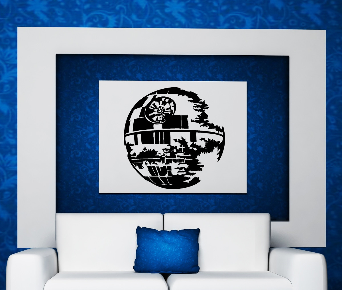 streetwall wandtattoo star wars todesstern wandbild wandbild aufkleber. Black Bedroom Furniture Sets. Home Design Ideas