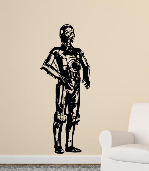 streetwall wandtattoo star wars c 3po wandbild aufkleber. Black Bedroom Furniture Sets. Home Design Ideas