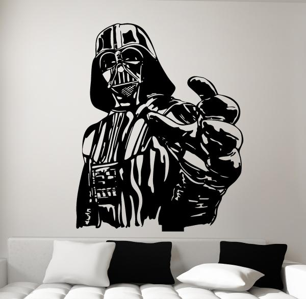 wandtattoo darth vader star wars wandbild aufkleber. Black Bedroom Furniture Sets. Home Design Ideas