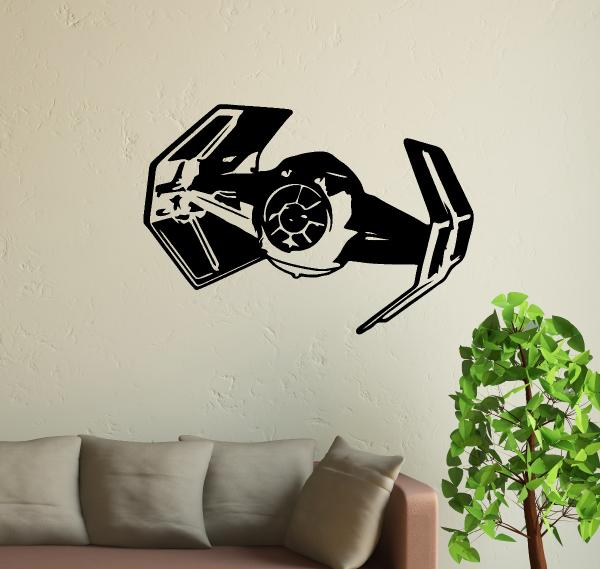 streetwall wandtattoo star wars tie bomber wandbild aufkleber. Black Bedroom Furniture Sets. Home Design Ideas