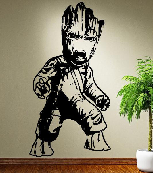 streetwall - wall decal angry baby groot