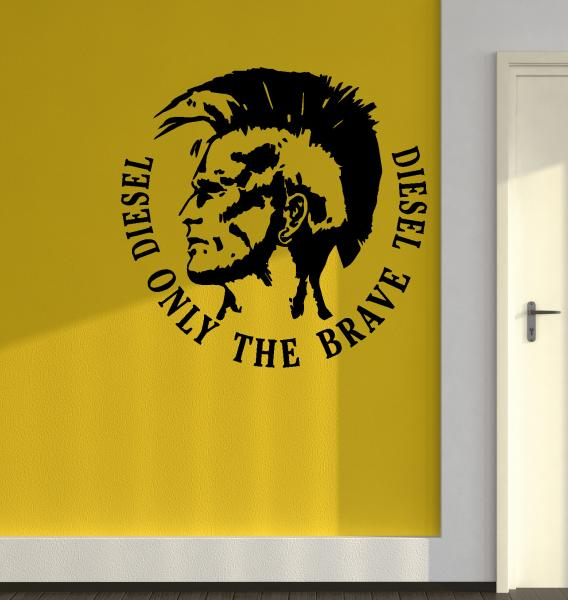 Streetwall Wall Decal Diesel Only The Brave